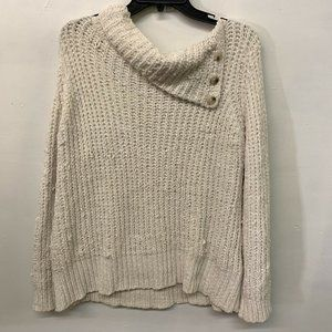 Soft Surroundings Womens Beige Pullover Long Sleeve Sweater